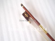 Top quality  Brazilwood Ebony and Carved designs violin bow with best Mongolia horse tail elastic,size 4/4,1/4