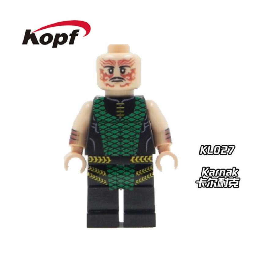 20Pcs Super Heroes Custom Karnak Deadpool X-Man Building Blocks Cute Figures Inhumans Royal Family Toys Children Bricks KL027