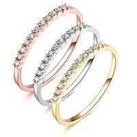 Уникальное свадебное кольцо Moissanite с бриллиантами Настоящее 18 k 750 Золотое обручальное кольцо для женщин 0.12ct Moissanite Алмазный юбилей сочетающи