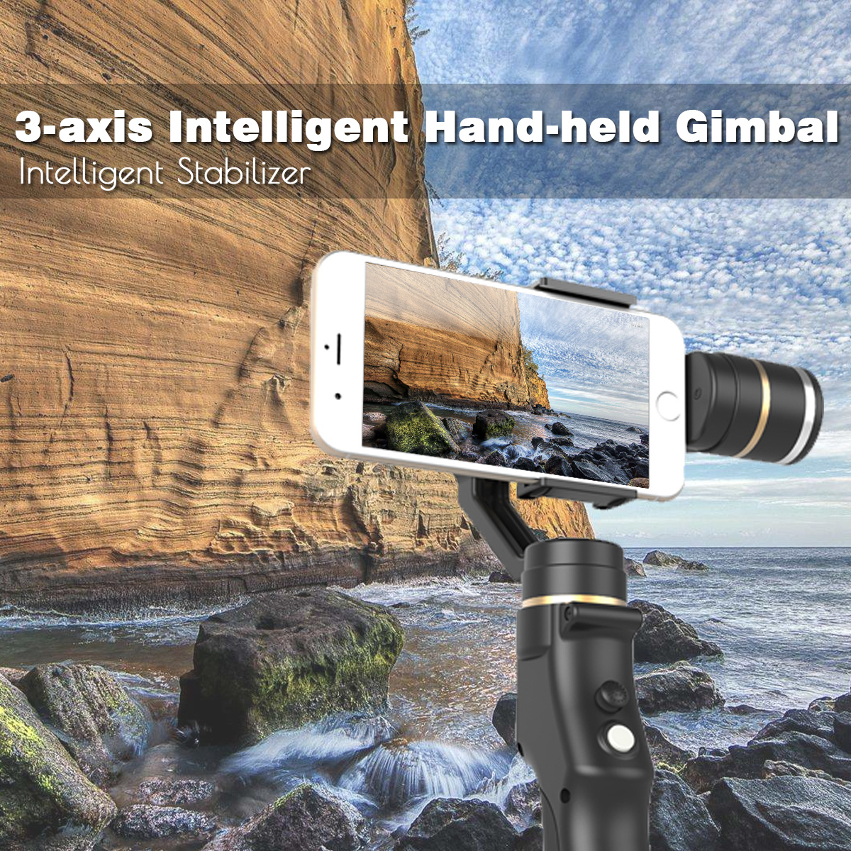 3 Axis Gimbal Action Camera Handheld Stabilizer With Clip Holder for Gopro Camera Cell Phone Handheld Gimbal Stabilizers 1 4 camera selfie rod cell phone holder clip set red silver