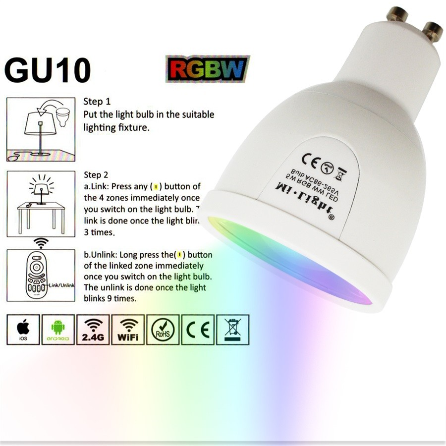 5W RGBWW GU10H