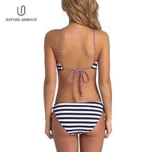 NATURE ARMOUR swimwear women bikini 2018 sexy stripes swimsuit  bikini push up bikini swimsuit women's separate