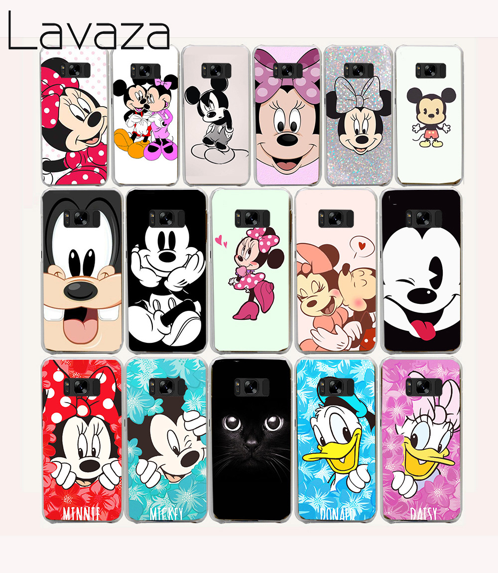 291e Minnie cartoon Hard Transparent Phone Cases Cover for Galaxy S2 S3 S4 S5 & Mini S6 S7 & Edge Plus