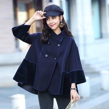 86f0839db943 2019 nuevo abrigo de lana mujer Otoño Invierno chaqueta mujer moda coreana  mujeres Cachemira abrigos falda patrón abrigo mujer YQ313