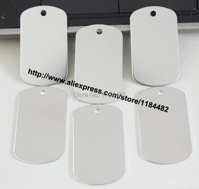 pet products 100 pcs lot silver aluminium alloy dog name tags