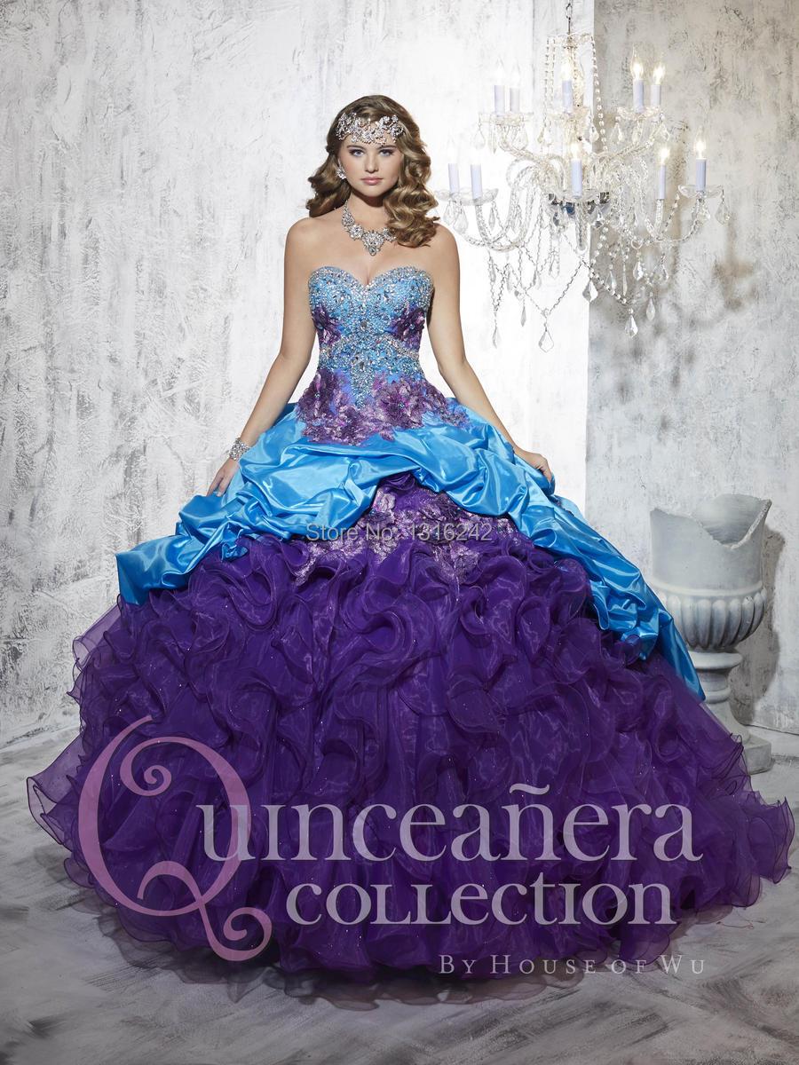 Aliexpress.com : Buy Womens Purple Sweetheart Girls Quinceanera ...