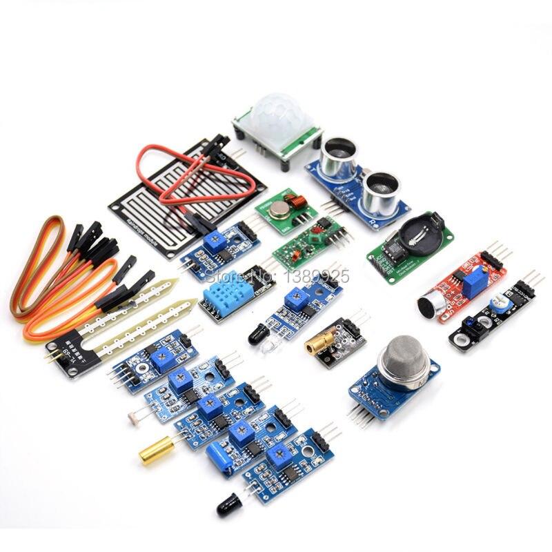 16pcs/lot Raspberry Pi 3&Raspberry Pi 2 Model B the sensor module package 16 kinds of sensor Free shipping