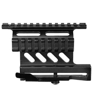 Image 1 - Riel de montaje lateral para Rifle Picatinny Weaver AK Serie Quick QD 20mm picatinny separador de doble cara AK Scope Sight Mount Bracket Rifle