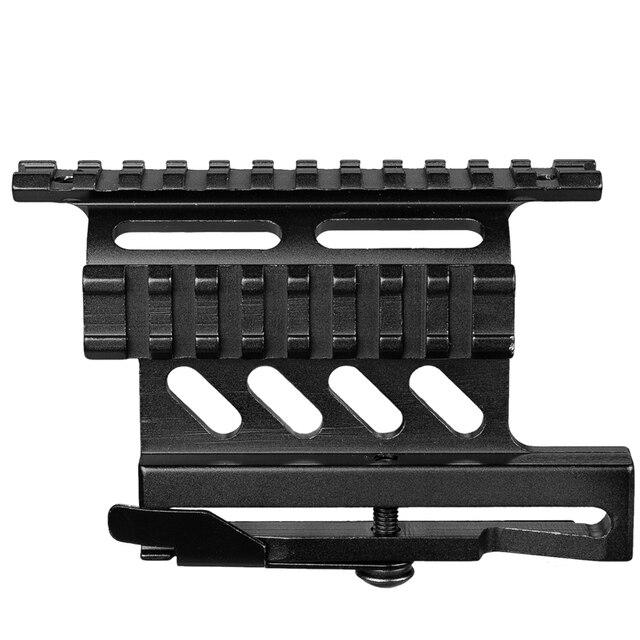 Riel de montaje lateral para Rifle Picatinny Weaver AK Serie Quick QD 20mm picatinny separador de doble cara AK Scope Sight Mount Bracket Rifle