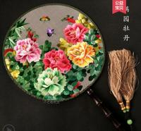 Su embroidery embroidery flower double sided fan China wind gift features handicraft souvenirs