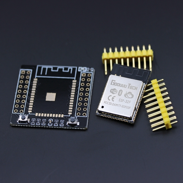 2017 High Quality ESP32F Bluetooth and WIFI Dual Core CPU IoT Wifi Wlan BLE Module+ESP32 Adapter Board for arduino ESP-32