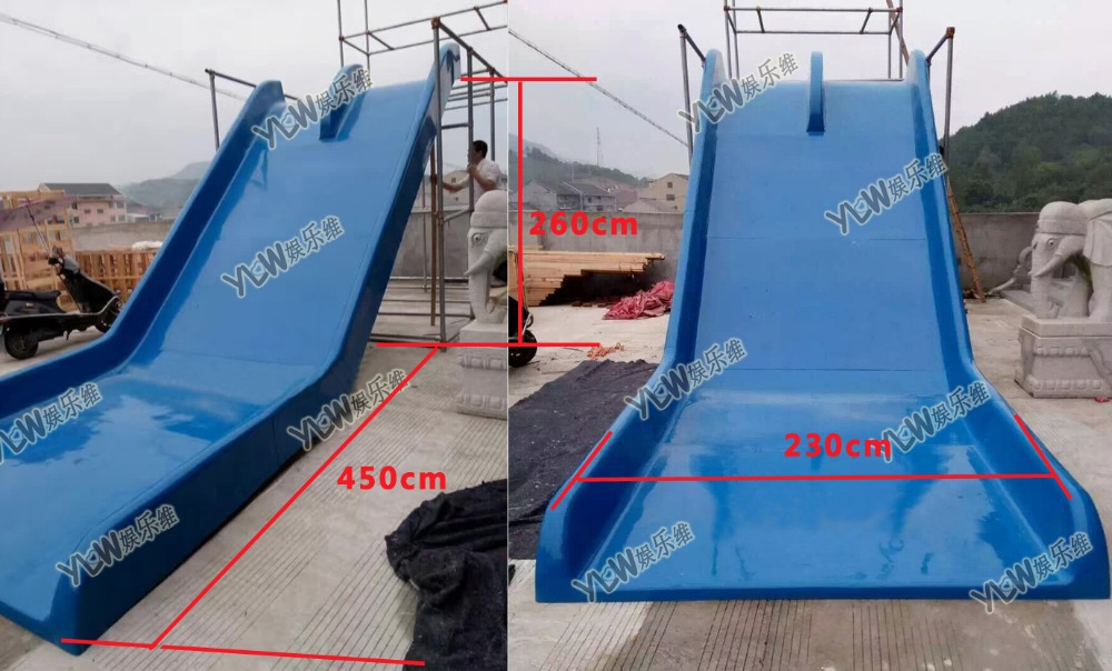 customized made Glass steel water slides FRP giant water slide playground,amusement playground splicing slide for water park funny summer inflatable water games inflatable bounce water slide with stairs and blowers
