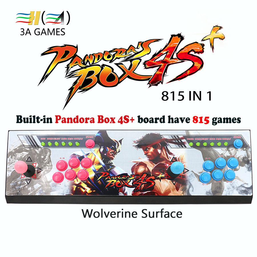 Pandora box 4S plus 815 in 1 joystick arcade buttons controle arcade usb children game machine controller game machine consoles pandora s box arcade joystick for ps3 controller computer game arcade sticks new street fighters joystick consoles