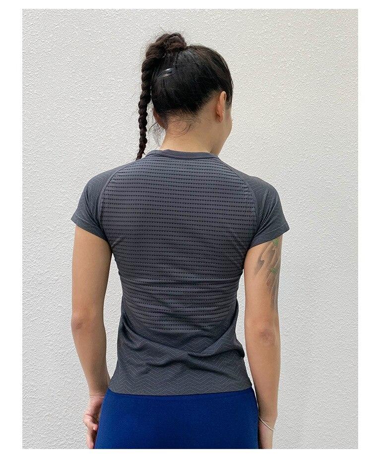 Pescoço Sportswear Treino Correndo Gymwear Quick Dry Respirável Emagrecimento