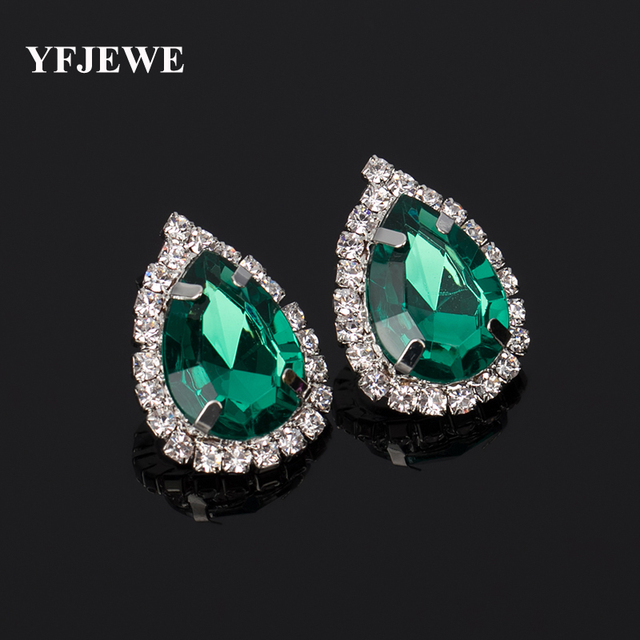 YFJEWE Fashion Jewelry Women Party Accessories stud earring female fashion accessories large rhinestone sexy vintage #E035