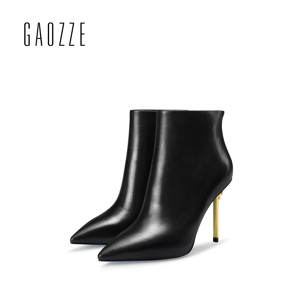 GAOZZE women genuine leather boots black pointed toe sexy high-heeled women ankle boots female side zipper autumn boots 2017 new gaozze suede leather women ankle boots female pointed black side zipper ankle boots heels shoes women 2017 autumn new