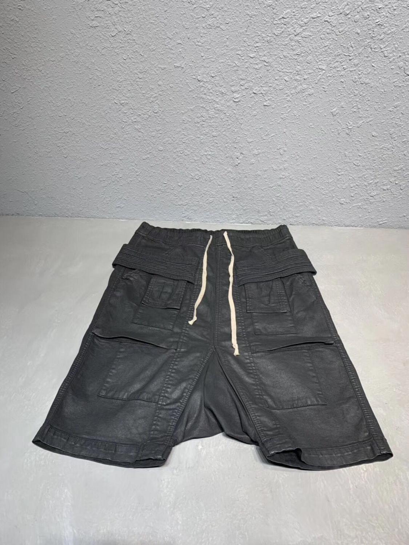 オーウェン Seak 男性カジュアルハーレムパンツ綿デニムジーンズゴシック男性の服スウ夏女性膝丈ルース黒ショーツ  グループ上の メンズ服 からの ショートパンツ の中 3