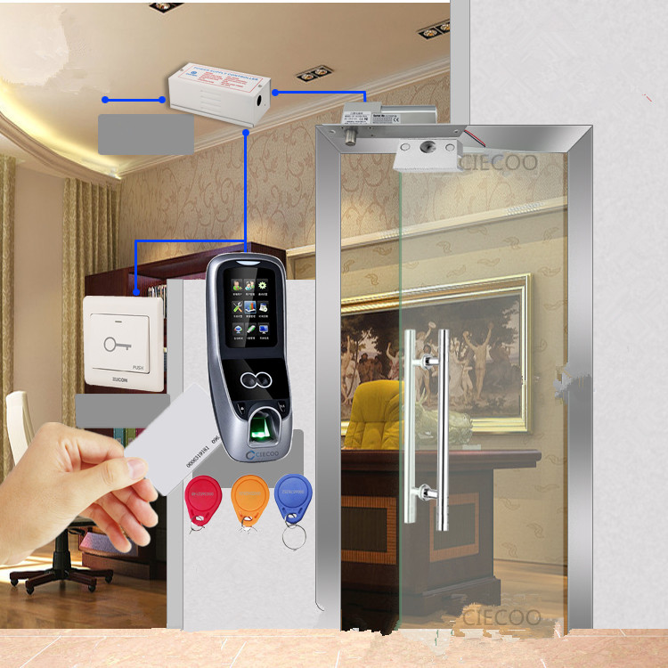 MultiBio700 access control zkaccess biometric reader software deadbolt lock bracket for single glass door access control DIY kit biometric face and fingerprint access controller tcp ip zk multibio700 facial time attendance and door security control system