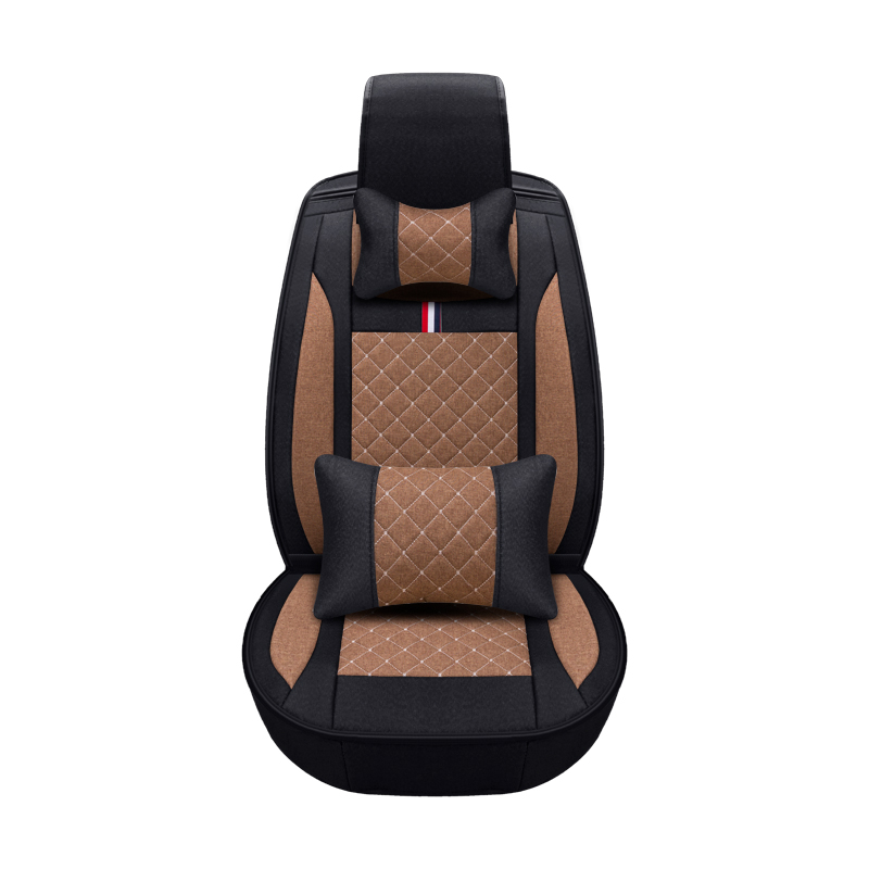 2019 New 3D Car Seat Cover Senior Flax Sport Car Styling Car Styling Universal Seat Cushion