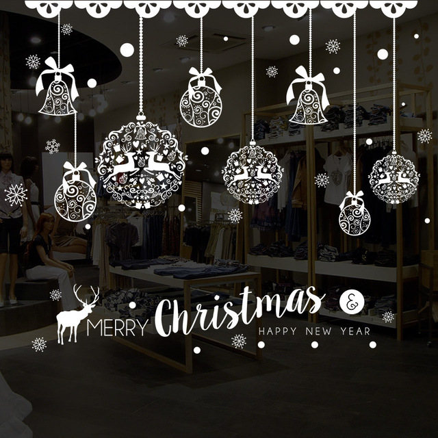 Festival wall sticker christmas snowman window stickers merry christmas happy new year create atmosphere glass window