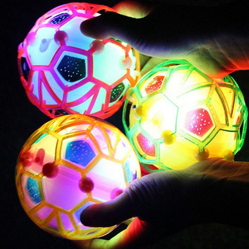 1Pcs Electronic Flash Music Dance Football Light-emitting Toys Children Jump Soccer Ball Creative Birthday Gift For Kids Girls