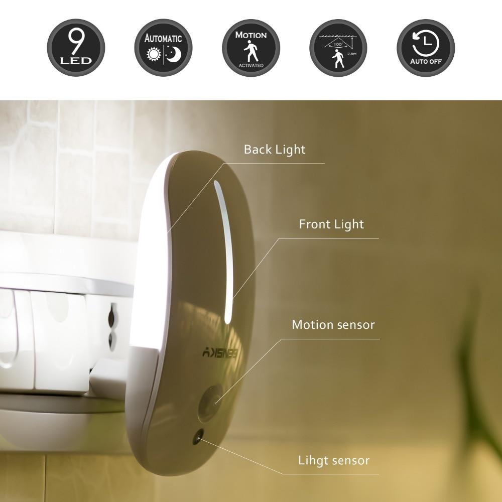 Luzes da Noite noite com sensor de luz Utilização : Emergência