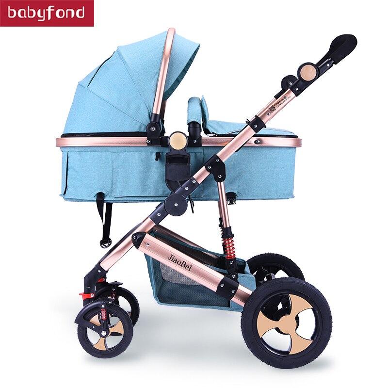 2019 NIEUWE kinderwagen kan zitten liggende vouwen pasgeboren schokdemper kinderwagen hoge landschap baby kind trolley 1