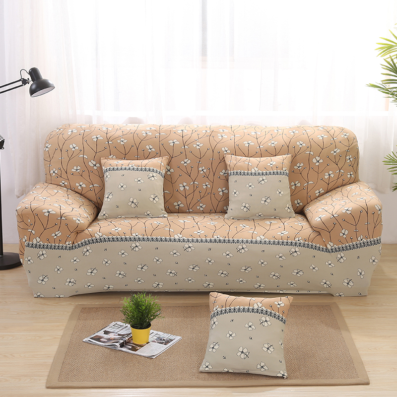 Simple Style Elastic Sofa Covers Printed Couch Seat Slip