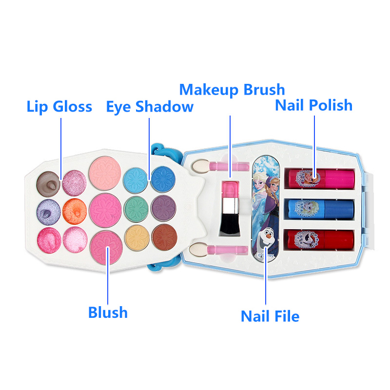 Beauty & Fashion Toys Disney Ice And Snow Princess Cosmetics Princess Cosmetic Box Set Little Girl Lipstick Safety Non-toxic Small Suitcase Toys Volume Large