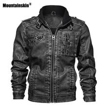 Мужская куртка из искусственной кожи 7XL, Осеннее приталенное пальто из искусственной кожи, мотоциклетные куртки, мужские пальто, брендовая одежда SA591