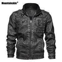Мужская куртка из искусственной кожи, 7XL, кожаная куртка, осенняя приталенная куртка из искусственной кожи, мотоциклетные куртки, Мужское па...