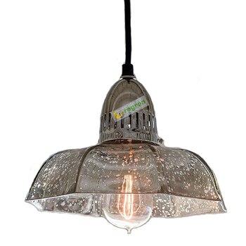 Retro hanging light Distressed mercury glass chandelier pendant Vintage lights led Dining Room lamp modern kitchen lighting