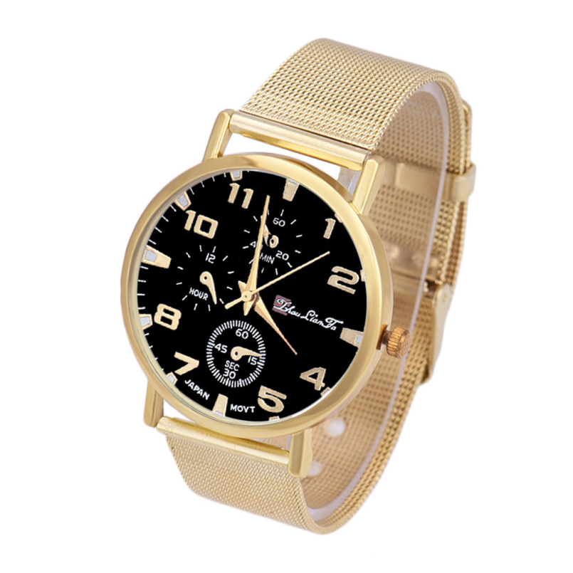 Excellent Quality Golden Brand Mens Quartz Watches Luxury Clock Men Waterproof Quartz Wrist Watches Steel Relogio Masculino