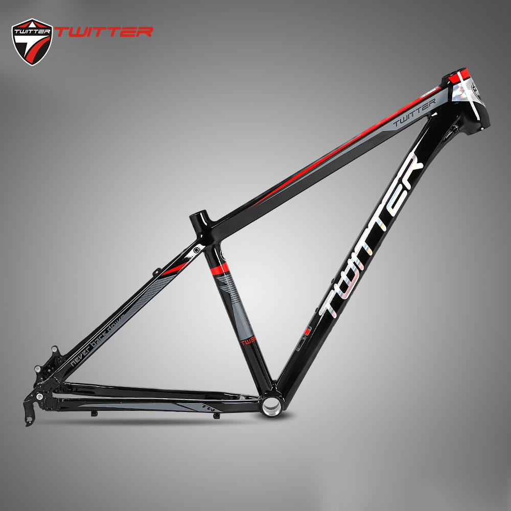 Twitter MTB 3900XC AL6061 Mountain Bike Frame For 26 27.5 29er Wheelset Smooth Welds Internal Cable XC Lever T4-T6 Processing