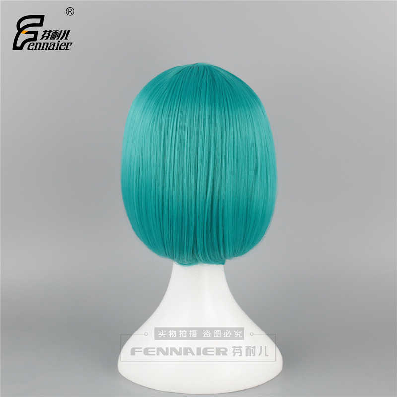 Niñas estudiantes BOBO peluca Linda Lolita peluca sintética para fiesta de Halloween Cosplay azul verde pelo dulce