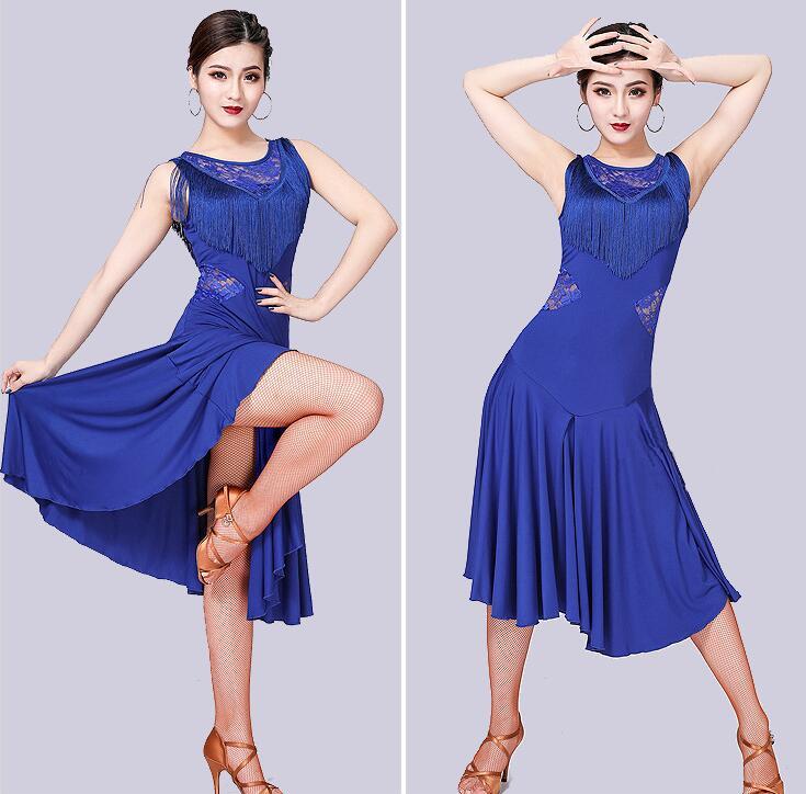 High Quality Latin Dance Dress Women/Girls/Lady New Sexy Fringe Salsa/Ballroom/Tango/Cha Cha/Rumba/Samba/Latin Dresses For Danci