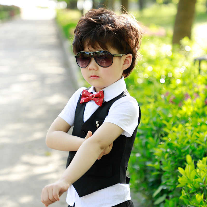 c751d266a70a7 Kids Summer Fashion Formal Clothing Set for Boys Dress Wedding Vest Pants  Suit New Gentle Boys Suit Set Children Prom Suits F147