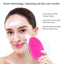 Rechargeable Silicone Facial Cleansing Brush Electric Face Washing Machine Ultrasonic Vibration Cleanser Deep Cleaning Portable