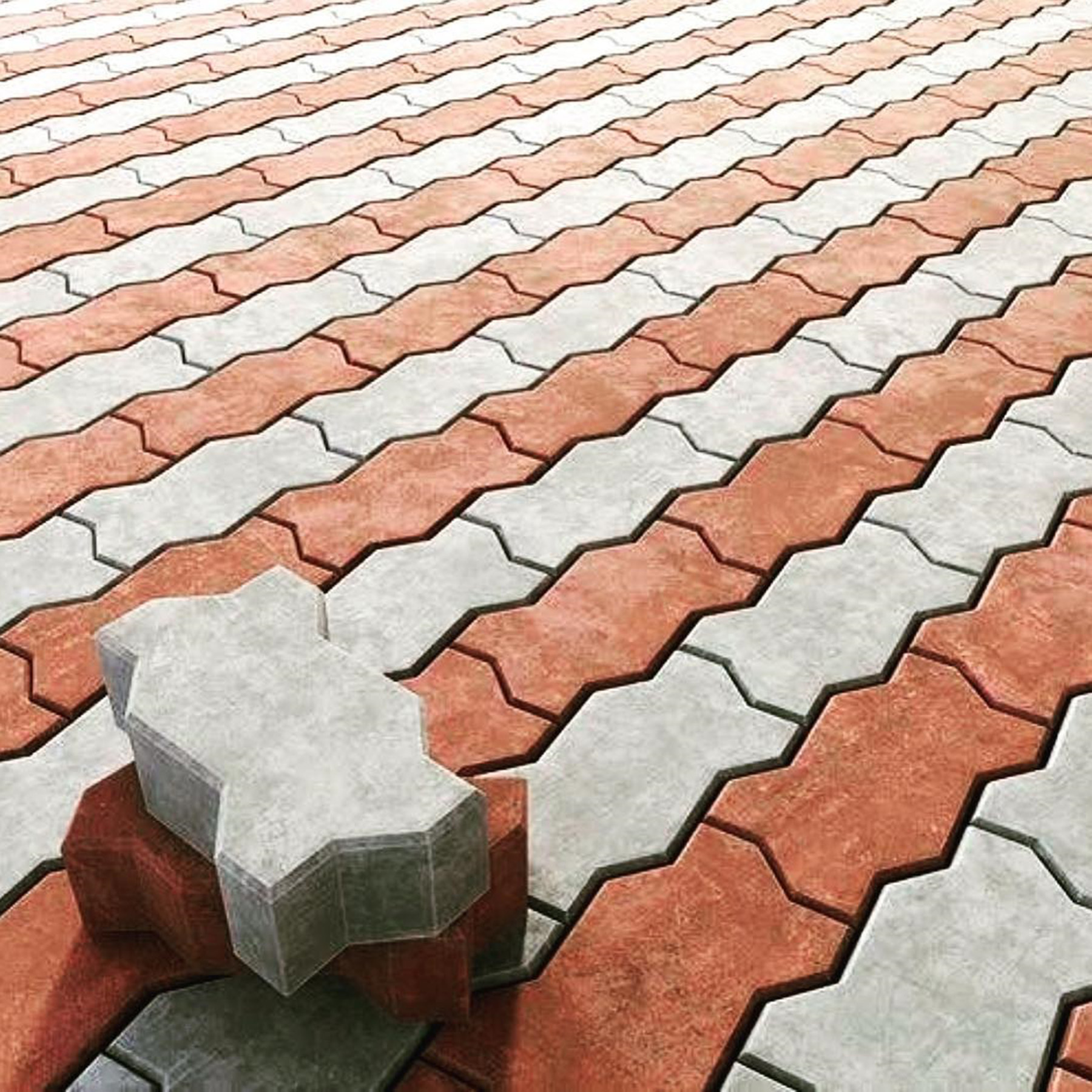 Patio Pavers Concrete Molds Silicone Stepping Stone Mold Cement Concrete Brick Molds
