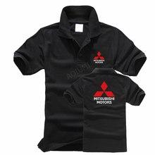Verão algodão de manga Curta tops Mitsubishi polo camisa Homens Casuais polo Sólidos shirt dos homens camisas pólo