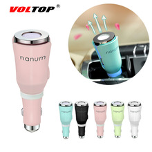 VOLTOP Air Freshener Car Ornaments Interior Accessories Aromatherapy Machine Aroma Humidifier Cigarette Lighter USB Charging