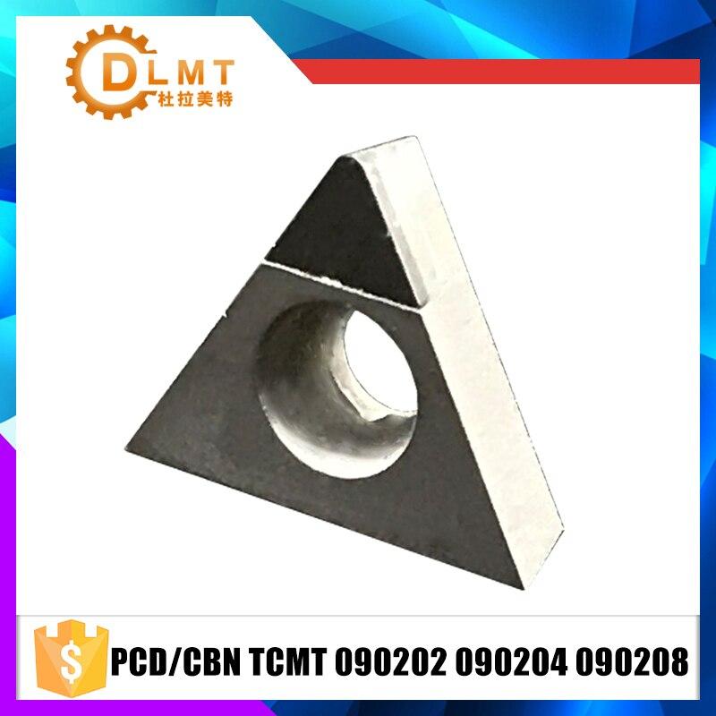 2PCS PCD/CBN TCMT090202 TCMT090204 TCMT090208 Diamant Couteau Lame CNC Haute Durete De Tournage Tour Diamant Cutter Outils