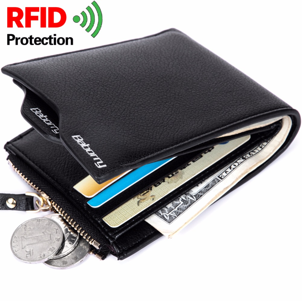 RFID Theft Protect Coin Bag Zipper Men Wallets with Pocket ID Blocking Mini Slim Wallet Automatic Pop up Credit Card Coin Purse rfid theft protect dollar price men wallets famous brand with coin pocket purse card holder zipper genuine cow leather wallets