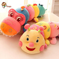 60cm-80cm new cute caterpillar with letters of plush toys crocodile doll, nano particle foam doll birthday gift, free shipping