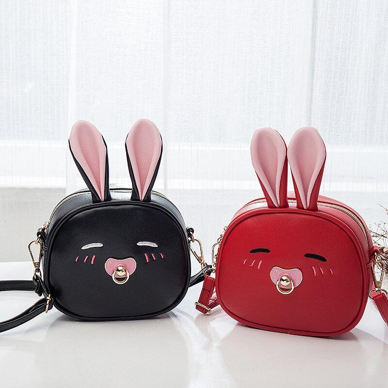 Children Bags Handbags Girls Cartoon Rabbit Shoulder Bag Small Mini Cute Kids Back pack New Designer Lady Crossbody Bag Bolsa