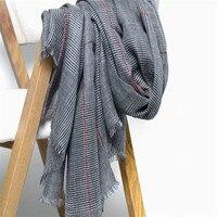 large size 100%cashmere women plover case grain scarfs shawl pashmina 90x200cm small tassel dark grey 3color