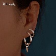 hot deal buy artilady 4 pairs spiked hoop earrings set minimalist earrings trendy charm pendant earrings party jewelry for women dropshipping