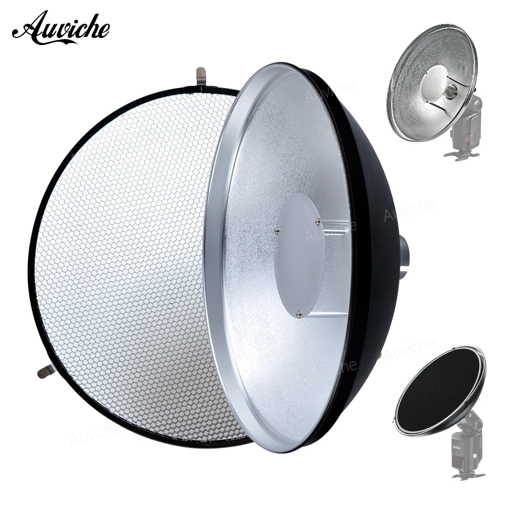 Godox Beauty Dish AD-S3 with Grid AD-S4 Flash Diffuser for WITSTRO Speedlite Flash AD180 AD200 AD360 AD360II 100% original godox beauty dish with grid ad s3 for witstro speedlite flash ad 180 ad 360