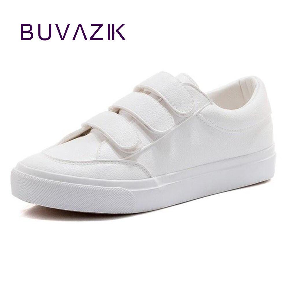online store 706f3 2a286 Blanco Primavera De Nueva 2018 Cuero Zapatilla Mujeres Mujer Zapatos FqxO1AF