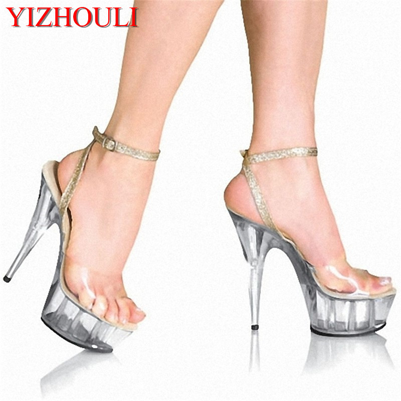 The sexy queens favorite sandals during 15 centimeters high heel shoes model stageThe sexy queens favorite sandals during 15 centimeters high heel shoes model stage